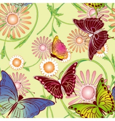 Springtime butterfly seamless pattern vector
