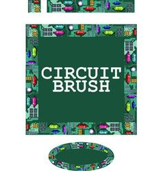 circuit brush vector image
