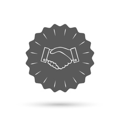 Handshake sign icon successful business symbol vector