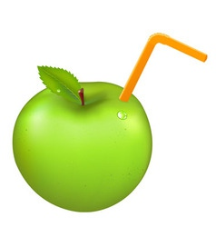 Green juicy apple vector