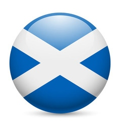 Round glossy icon of scotland vector