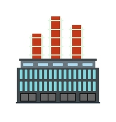 Plant industrial building icon vector
