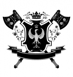 heraldry coat of arms vector image