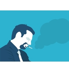 a man Smoking vector image