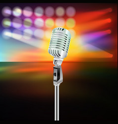 Abstract background with microphone on music stage vector