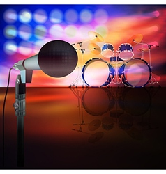 Abstract music background with drum kit and vector