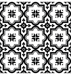 Arabic pattern Moroccan black tiles design vector image