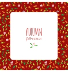 Autumn hand drawn background vector image