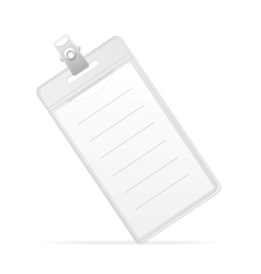 Blank ID identification card Badge isolated vector image vector image