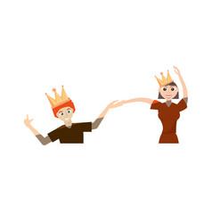 cartoon couple dancing cheerful vector image vector image