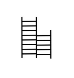 Child ladders icon vector
