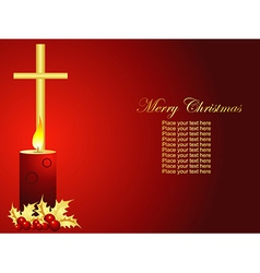 christmas candle art vector image vector image