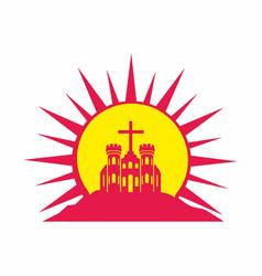 Church of the savior jesus christ vector