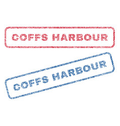Coffs harbour textile stamps vector