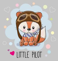 Cute cartoon fox vector