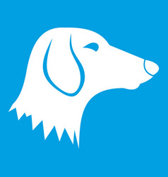 Dachshund dog icon white vector