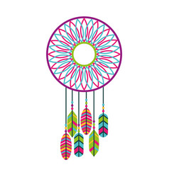 dream catcher hippie style vector image vector image