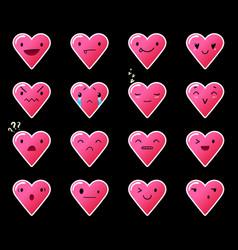 Emoticons heart gradient 11 vector