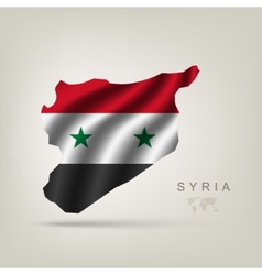 Flag of syria as a country vector