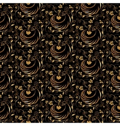 gold and black seamless pattern vector image