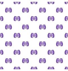 Hockey gloves pattern cartoon style vector image