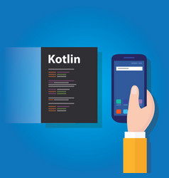 kotlin mobile application programming language vector image vector image
