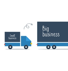 Logistics business big and small delivery truck vector