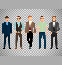 men dressed in business formal style vector image