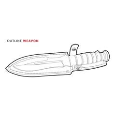 outline knife vector image