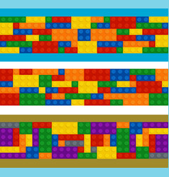 plastic constructor in horizontal order vector image