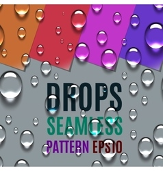 Realistic water transparent drops seamless pattern vector