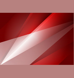 red geometric abstract background with copy space vector image vector image
