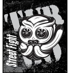 Street fight titanium bulldog with vector