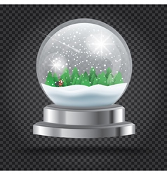 Transparent christmas crystal ball vector