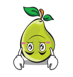 Upside down face pear character cartoon vector