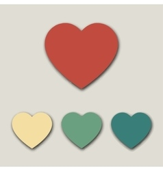 Valentine hearts icon vector image vector image
