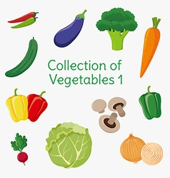 Vegetables 01 vector image