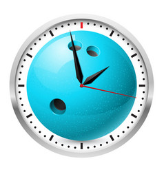 wall clock bowling style on white background vector image vector image