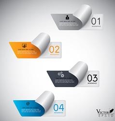 Modern paper infographics vector