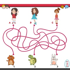 Path maze cartoon vector