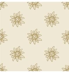Edelweiss flower seamless pattern background vector