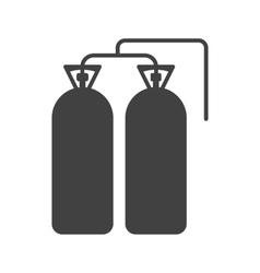 Oxygen tanks vector