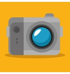Photographic camera device icon vector
