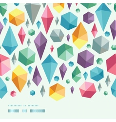 Hanging geometric shapes horizontal border vector