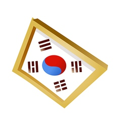 Icon korean flag vector