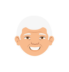 Grandfather avatar character icon vector