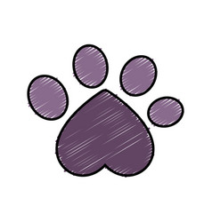 Dog paw print icon vector