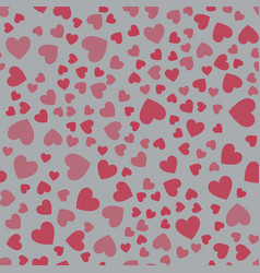 seamless pattern with hearts pink hearts vector image