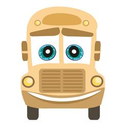 School bus cartoon character vector