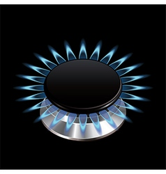 Gas flame stove isolated vector
